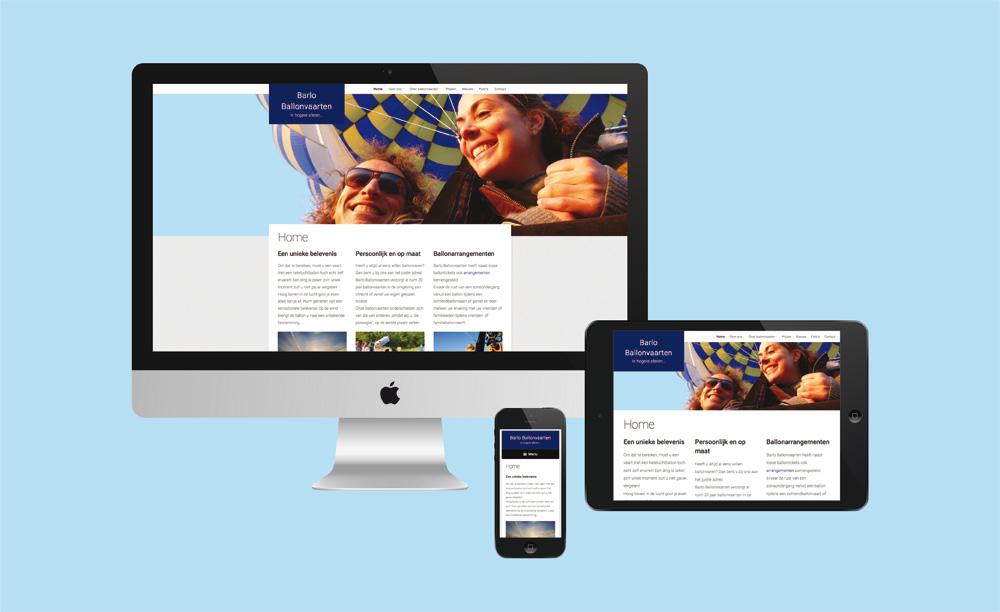 Website Barlo Ballonvaarten